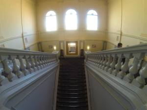 The view down the grand staircase